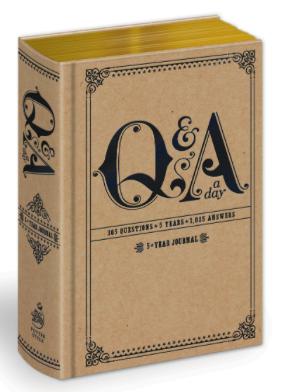 best journal books - q&a a day