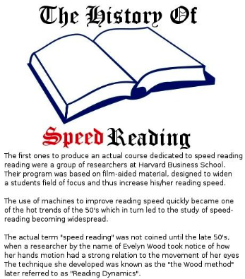a beginners guide to speed reading - history