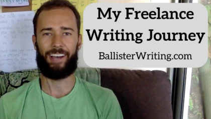 Ballister Writing YouTube Video Thumbnail - My Freelance Writing Journey