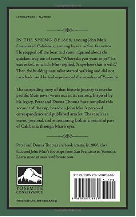Anywhere That Is Wild John Muirs First Walk to Yosemite - back book cover