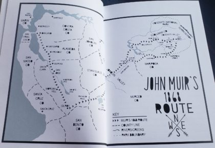 anywhere that is wild john muirs first walk to yosemite - john muirs route