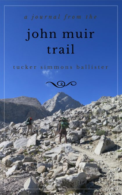A Journal from the John Muir Trail book cover