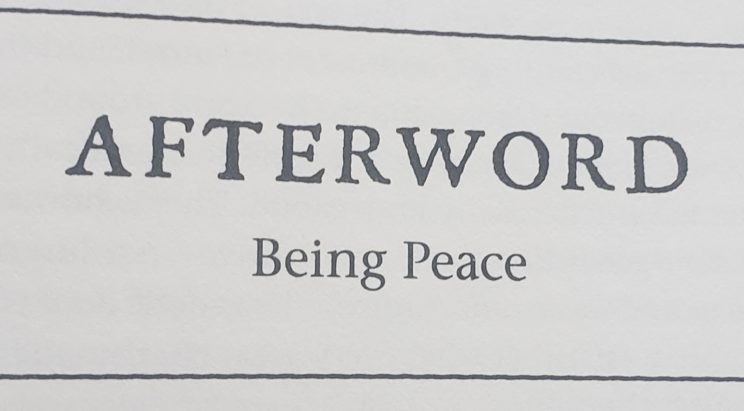 Becoming Supernatural Book Review - Afterword Being Peace
