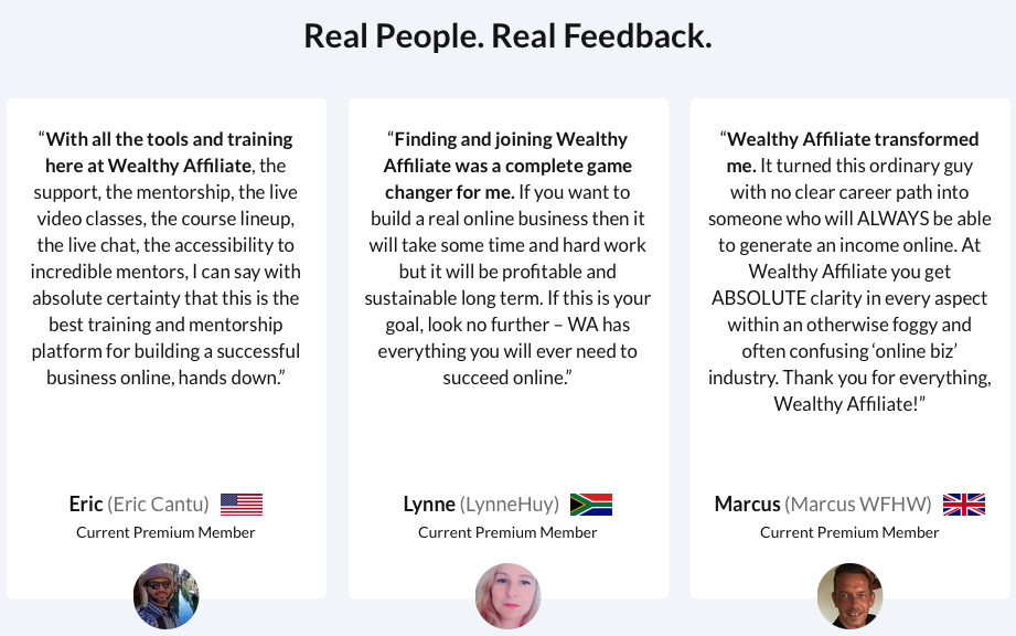 The Wealthy Affiliate Review for 2020 - Real People Real Feedback